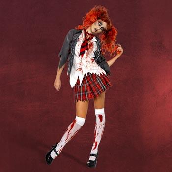 Zombie Schoolgirl Kost�m