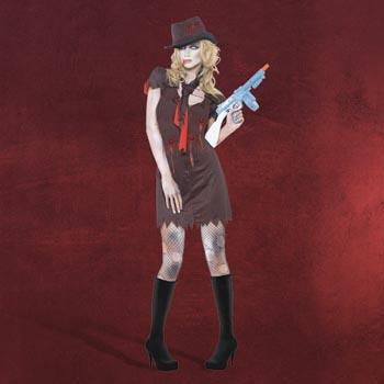 Zombie Gangsterbraut Kostüm