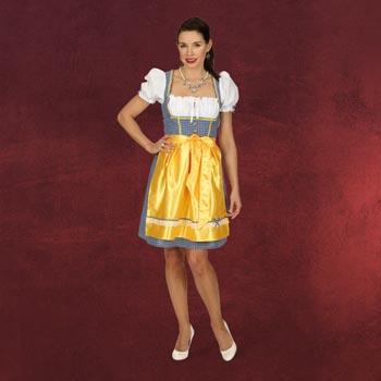 Trachtenkleid Heidi mit sonnengelber Sch�rze