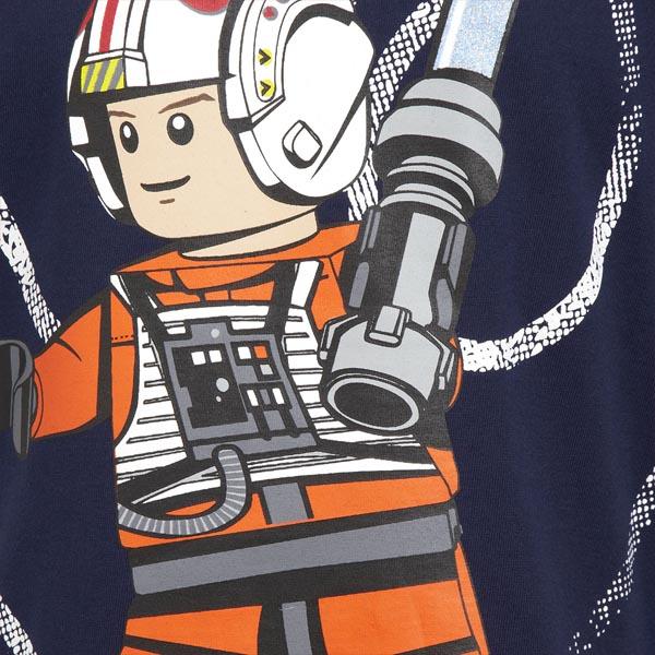 lego star wars luke skywalker kinder t shirt blau glitzer laserschwert print ebay. Black Bedroom Furniture Sets. Home Design Ideas