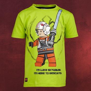 LEGO Star Wars - Luke Skywalker Kinder T-Shirt lime