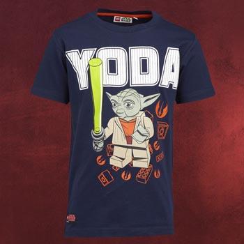 LEGO Star Wars Meister Yoda Kinder T-Shirt blau