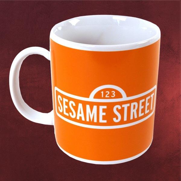 sesamstra e ernie bert tasse gute laune kaffeetasse keramik becher orange ebay. Black Bedroom Furniture Sets. Home Design Ideas