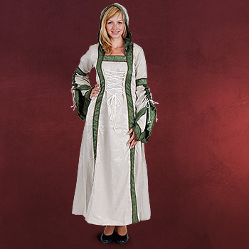 Mittelalterkleid Ariane natur-oliv