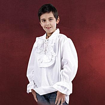 Mittelalter Rüschenhemd für Kinder weiß