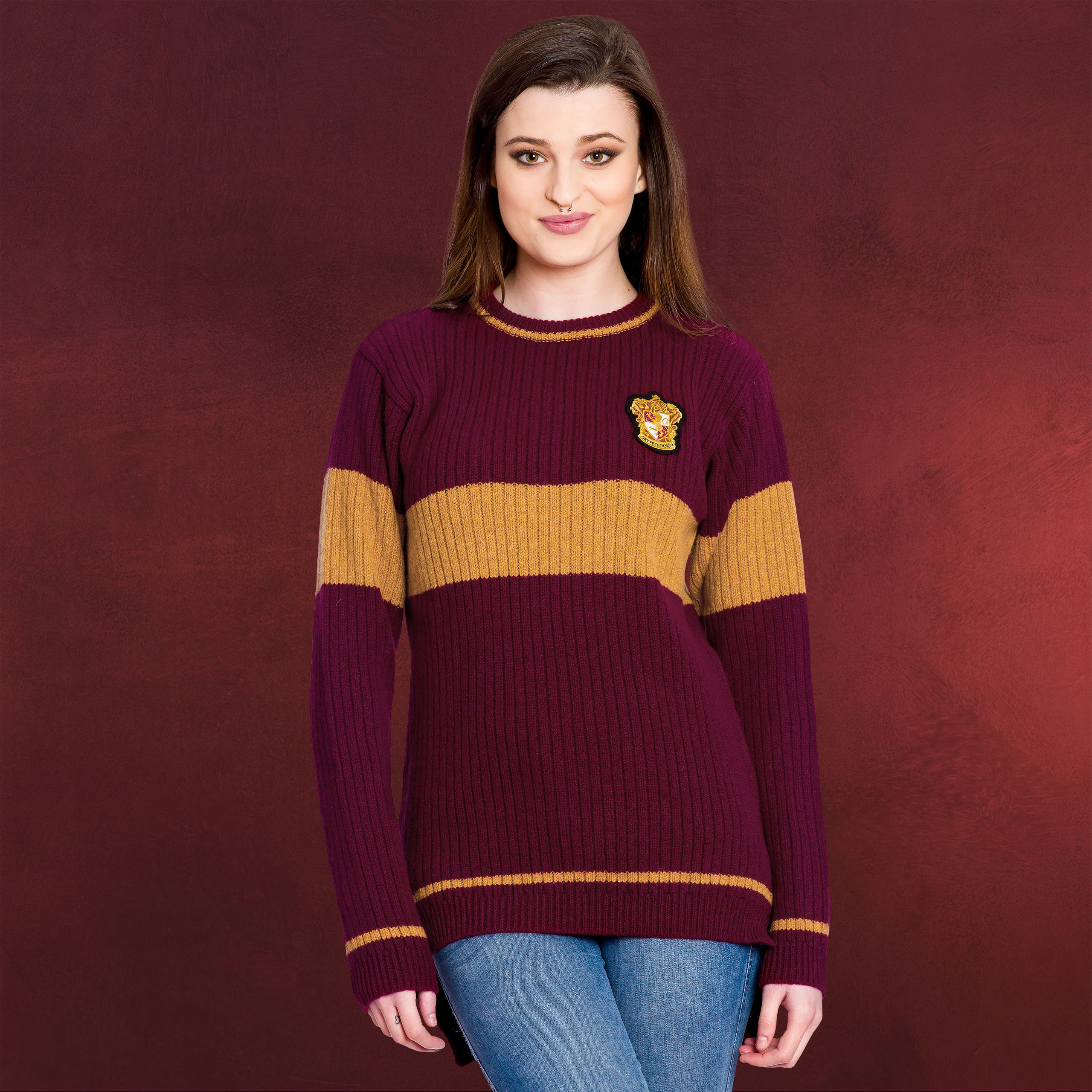 harry potter quidditch gryffondor sweater pull original v ritable agneau ebay. Black Bedroom Furniture Sets. Home Design Ideas