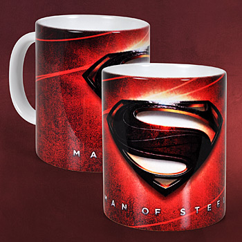 Superman - Man of Steel Logo Tasse rot