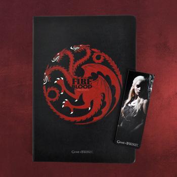 Game of Thrones - Targaryen Notizbuch und Magnet Lesezeichen