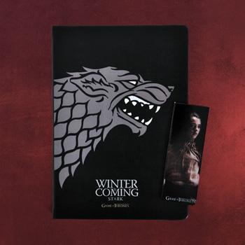 Game of Thrones - House Stark Notizbuch und Magnet Lesezeichen