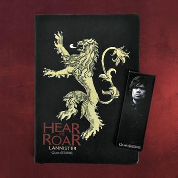 Game of Thrones - Lannister Notizbuch und Magnet Lesezeichen