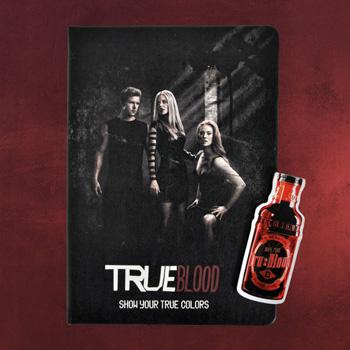 True Blood - Black Cover Notizbuch und Magnet Lesezeichen