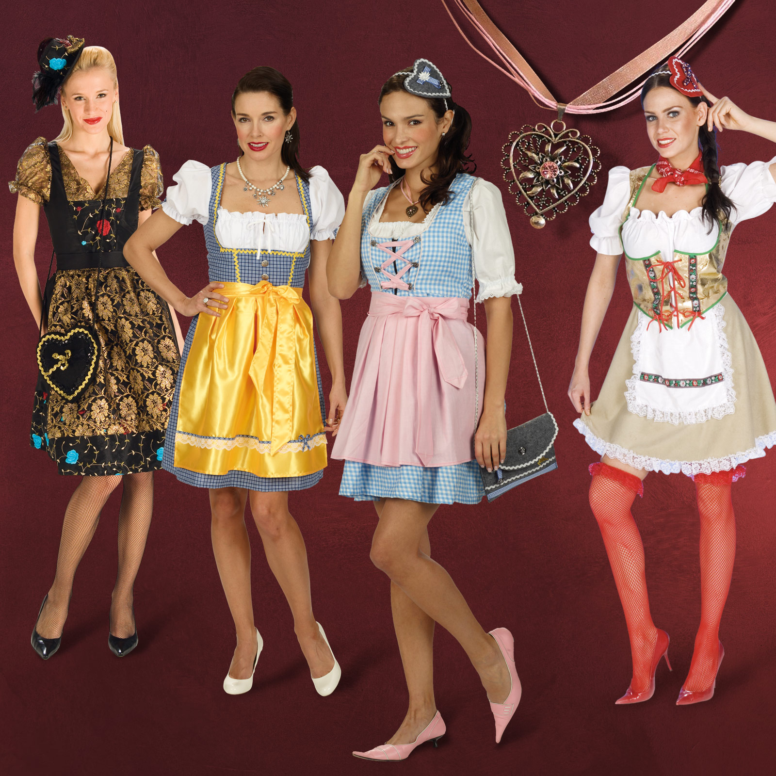 dirndl kleider oktoberfest wiesn tracht damen kost m. Black Bedroom Furniture Sets. Home Design Ideas