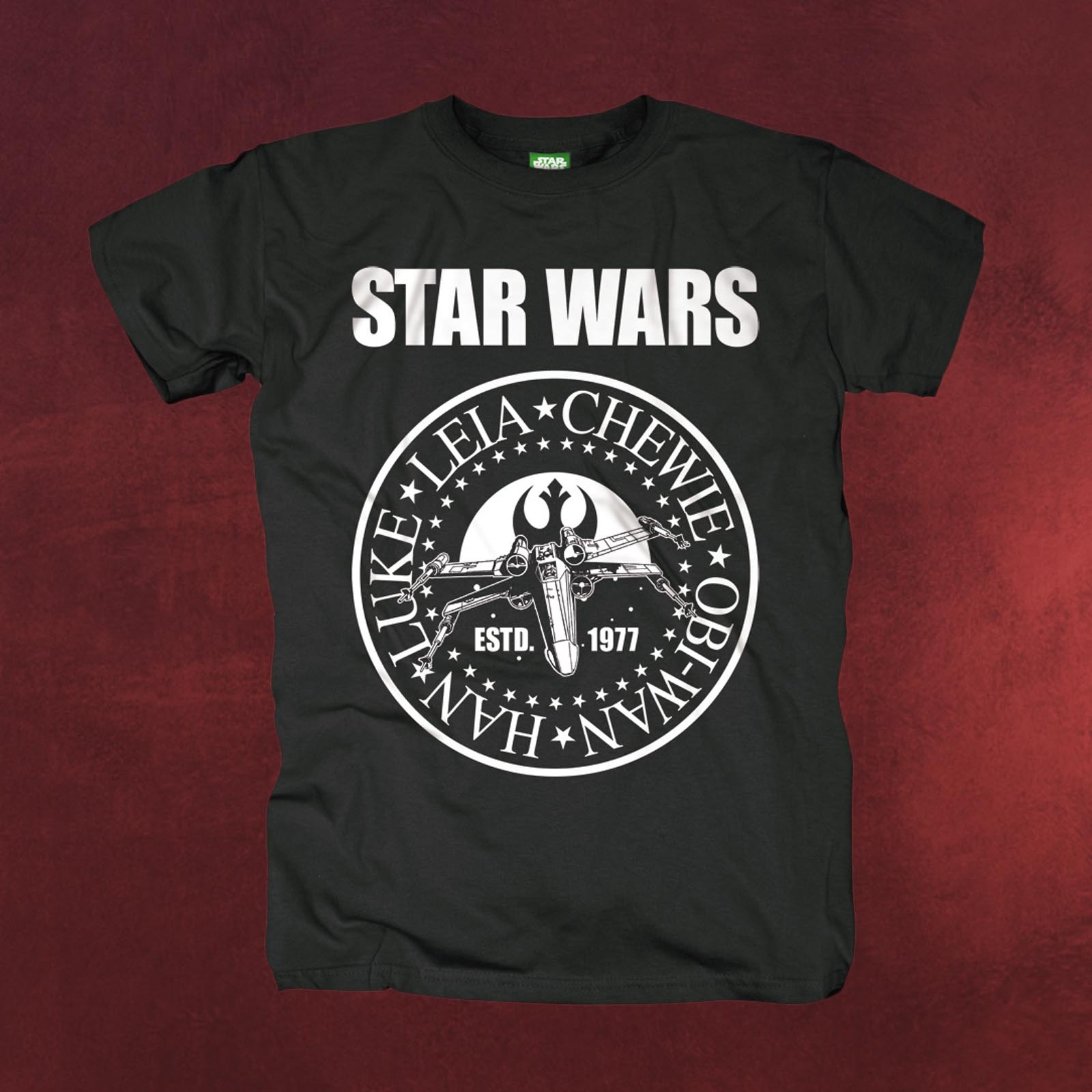 star wars seal t shirt mit luke skywalker leia chewbacca. Black Bedroom Furniture Sets. Home Design Ideas