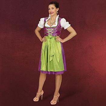 Dirndl Kleid Franzi mit Bluse und Sch�rze