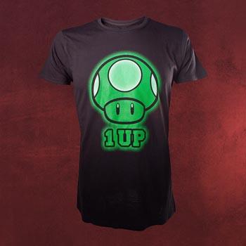 Super Mario - 1 UP Pilz T-Shirt