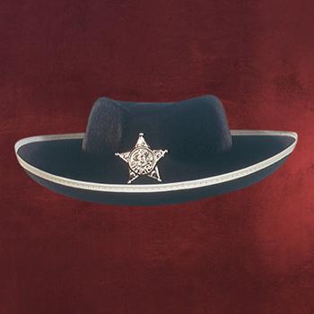 Cowboy Hut mit Sheriff-Stern