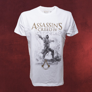 Assassins Creed IV - Kenway on board T-Shirt wei�