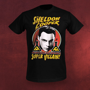 Big Bang Theory - Super Villian T-Shirt schwarz