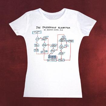 Big Bang Theory - Algorithm Girlie-Shirt weiß
