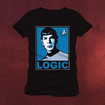 Star Trek - Mister Spock Logic T Shirt schwarz