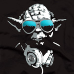 Star Wars - DJ Yoda at work T-Shirt schwarz