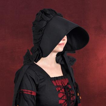 Mittelalterliche Haube schwarz