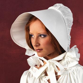 Mittelalterliche Haube weiß