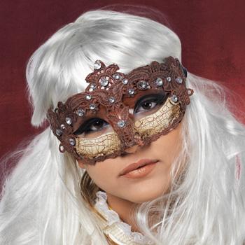 Venezianische Augenmaske braun