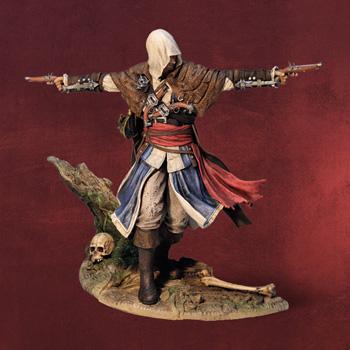 Assassins Creed IV - Edward Kenway Statue mit digitalen Inhalten