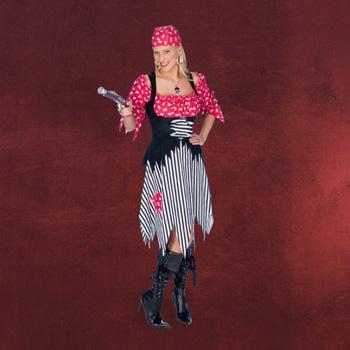 Karibische Piratin Kost�m Kleid