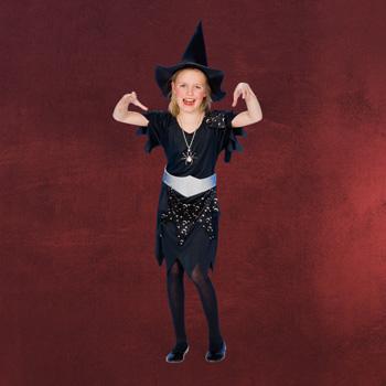 Schwarze Hexe - Kinderkost�m