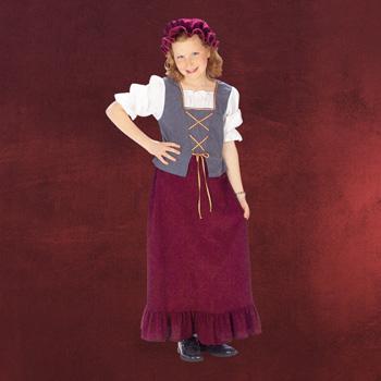 Magd mit Haube - Mittelalter Kinderkostüm