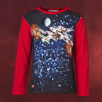 LEGO Star Wars - X-Wing Fighter Longsleeve Kinder rot