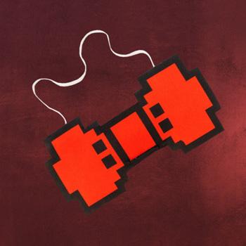 8-Bit Pixel Fliege rot