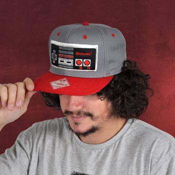 Nintendo - Controller Snapback Cap grau-rot