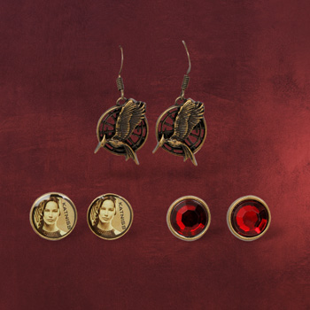 Tribute von Panem - Catching Fire Ohrringe-Set Katniss