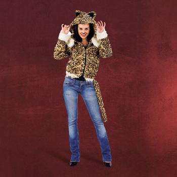 Leoparden Kost�m Jacke mit Kapuze