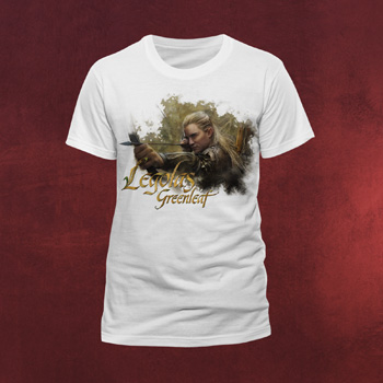 Der Hobbit - Legolas Grünblatt T-Shirt weiß