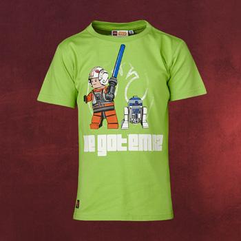 LEGO Star Wars - Luke Skywalker mit R2-D2 Kinder T-Shirt grün