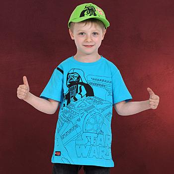 LEGO Wear Star Wars - Darth Vader Graphic Kinder T-Shirt türkis