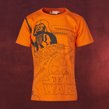 LEGO Wear Star Wars - Darth Vader Graphic Kinder T-Shirt orange