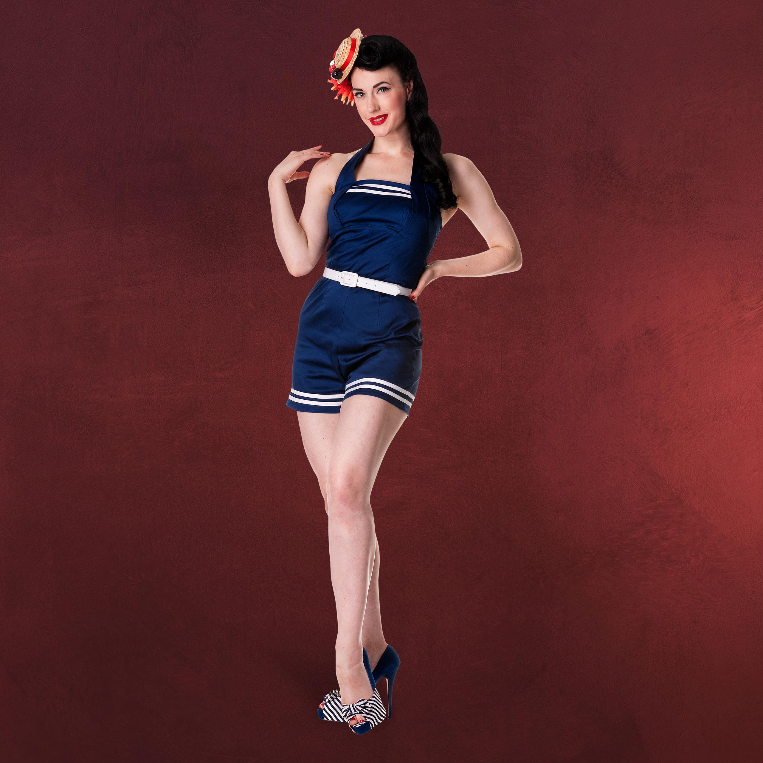 Rockabilly marine overall einteiler anzug damen 50ziger for Rockabilly outfit damen
