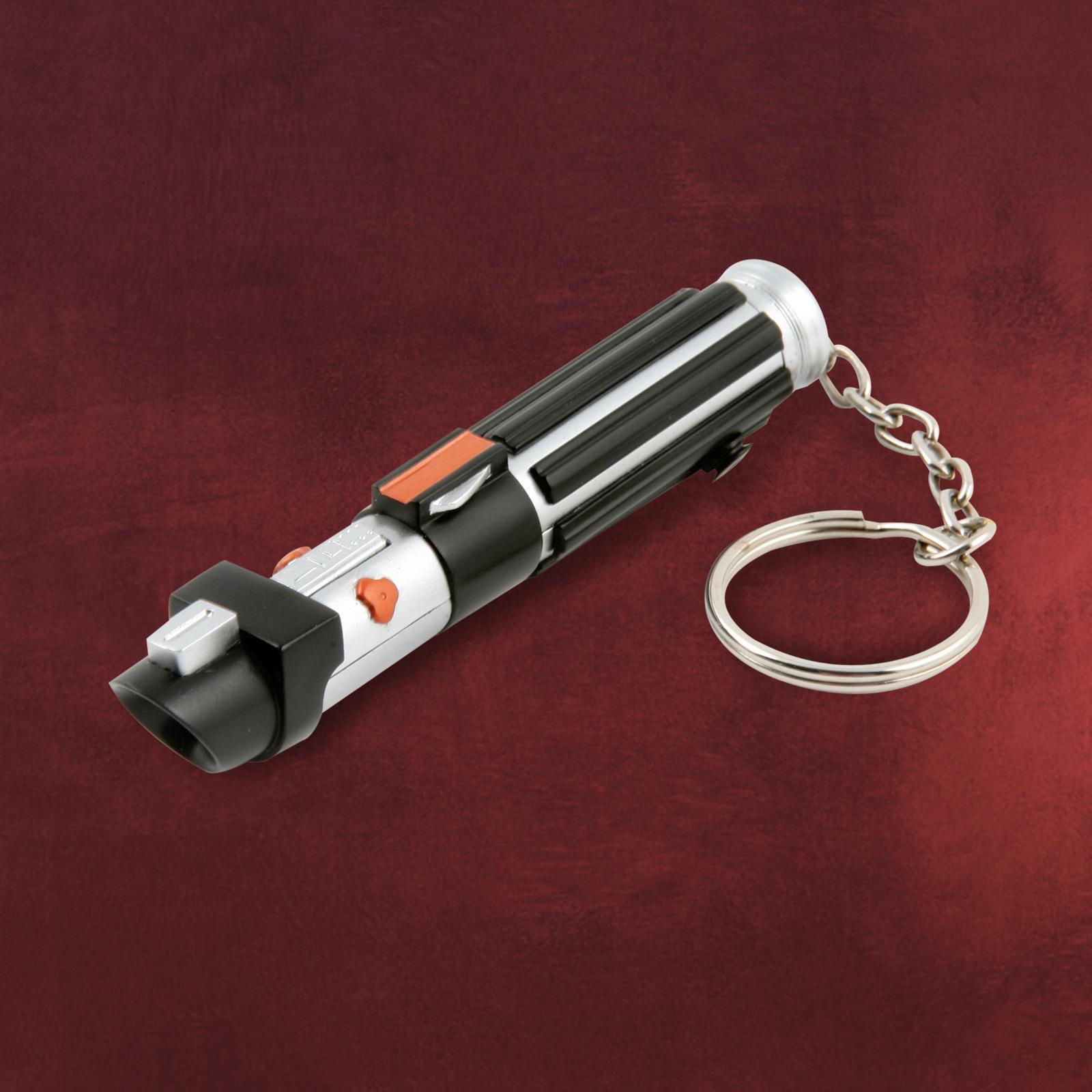 star wars darth vader lichtschwert mini taschenlampe schl sselanh nger 13 cm ebay. Black Bedroom Furniture Sets. Home Design Ideas