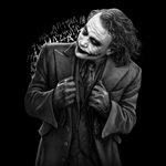 Batman - Joker in Black - T-Shirt