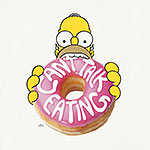 Simpsons - Homer Donut T-Shirt