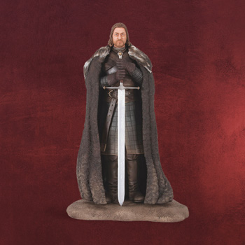 Game of Thrones - Ned Stark Statue mit Ice