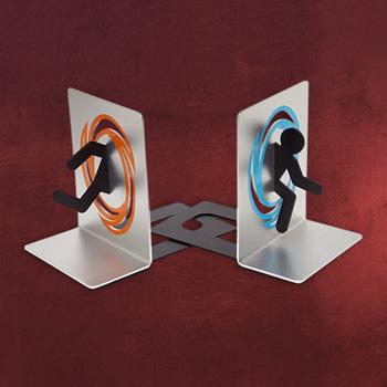 Portal 2 Metall Buchstützen Set