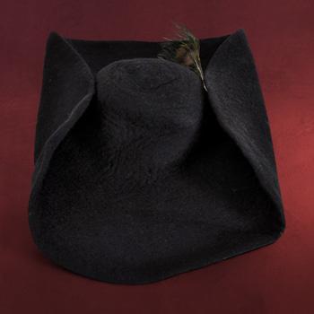 Filzhut mit Feder schwarz