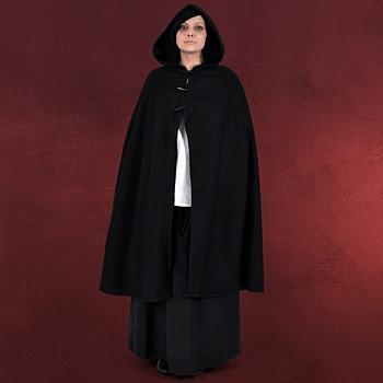Damenumhang mit Knebelverschluss schwarz