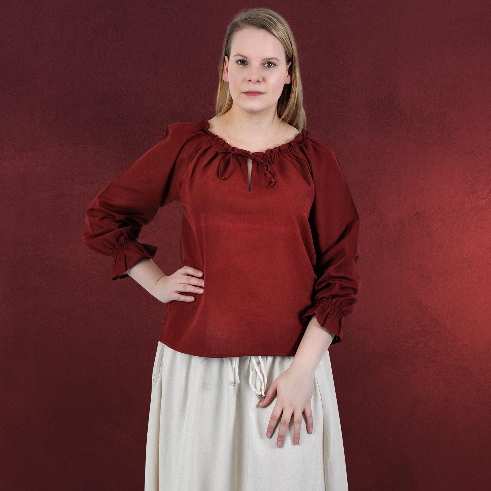 leichte mittelalter bluse langarm damen rot variabler. Black Bedroom Furniture Sets. Home Design Ideas